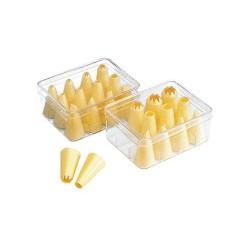 12-dielna súprava plastových špičiek