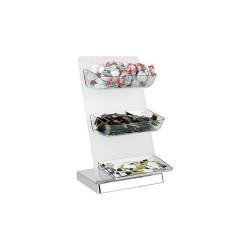 Univerzálny zásobník 3-podlažný, akryl/ABS