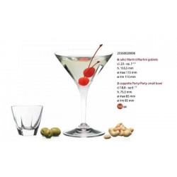 FUSION Súprava Martini Party 8 ks